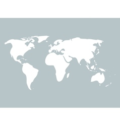 Simplified world map vector image vector image