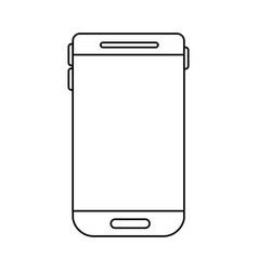 smartphone device icon in monochrome silhouette vector image vector image