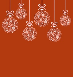 snow balls red vector image vector image