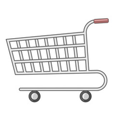 Supermarket cart icon cartoon style vector