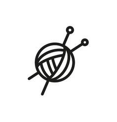 Threads for knitting spokes on white background vector