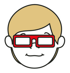 Young man with glasses 3d avatar character vector