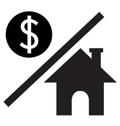 Money over house vector