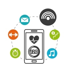 Smartphone wearable technology icons vector