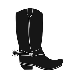 Cowboy boots icon in monochrome style isolated on vector image
