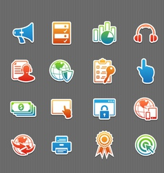 Web technology color icon set vector