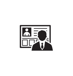 business profile icon flat design vector image
