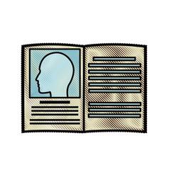 Drawing book medicine health literature vector