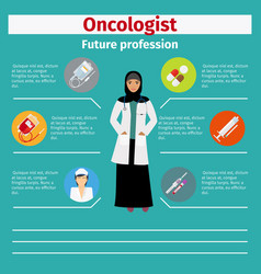 Future profession oncologist infographic vector