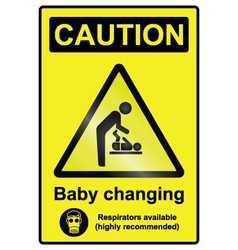 Baby changing hazard sign vector