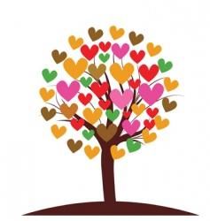 valentines tree background vector illustration vector image