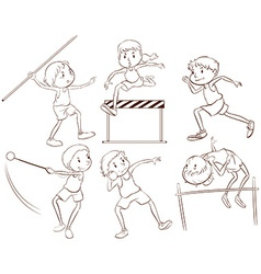 Kids doing outdoor activities vector image