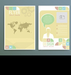 Business background template Poster Business vector image