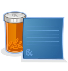 Prescription drug pill bottle cartoon vector