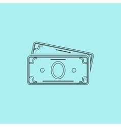 Money cash icon vector