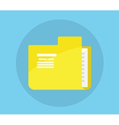 Folder icon flat design vector