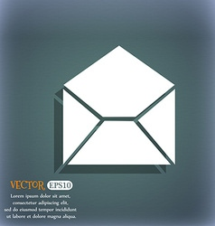 Mail envelope icon on the blue-green abstract vector