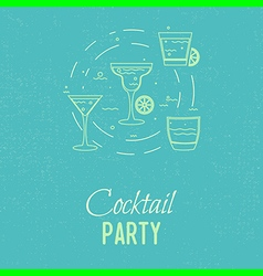 Cocktail outline vector
