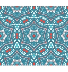 Abstract winter vintage mosaic seamless pattern vector