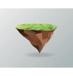 Piece of earth polygonal image graphic vector