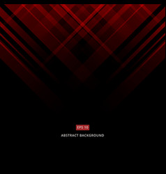 abstract black and red technology design vector image vector image