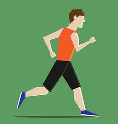Abstract man running vector