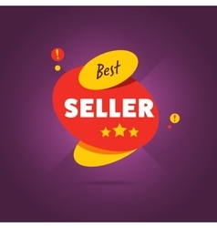 Best seller badge flat vector