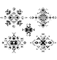 Black and white tribal design elements vector