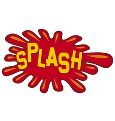 cartoon - splash vector image