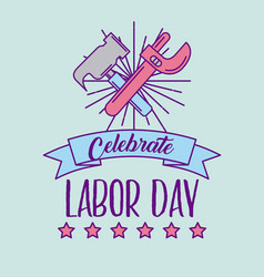 celebrate labor day vector image