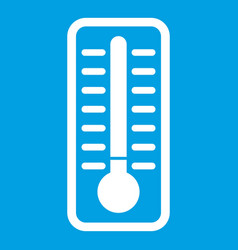 Cold thermometer icon white vector