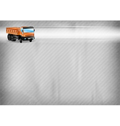 construction background truck vector image