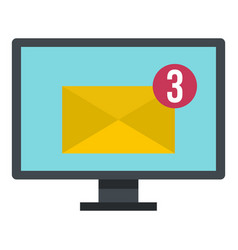 email messages on computer monitor icon isolated vector image vector image