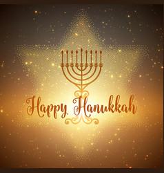 Hanukkah background with menorah and vector