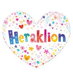 Heraklion city in greece vector