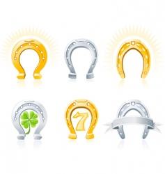 horseshoes vector image