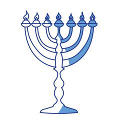 Jewish chandelier menorah vector