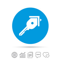 key from the house sign icon unlock tool vector image