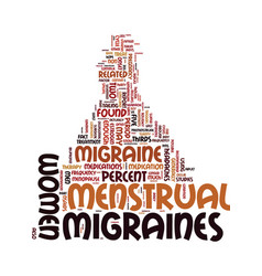migraines and women text background word cloud vector image