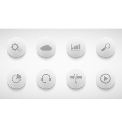 modern technology circle icons set vector image vector image