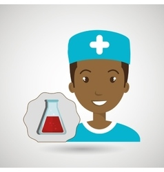 Nurse laboratory chemistry vector