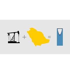 Oil rig and map symbols of saudi arabia vector