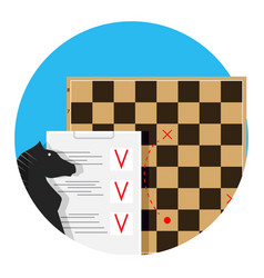 plann tactic and strategy vector image vector image
