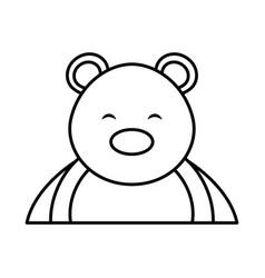 Polar bear cute character vector