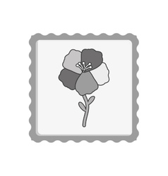 Post stamp with flower icon vector