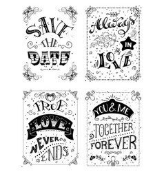Save the date always in love true love never ends vector