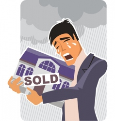 Sold house sign vector