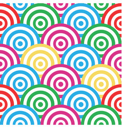 Spiral and circles seamless pattern vector