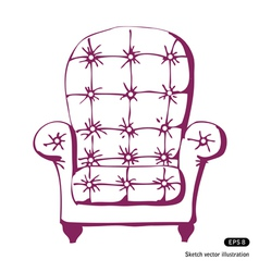 Vintage chair vector image