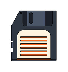 White background with floppy disk vector